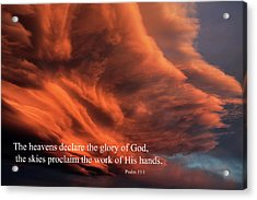 Psalm 19-1 Acrylic Print