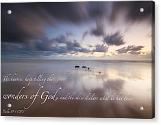 Psalm 19 1 Acrylic Print