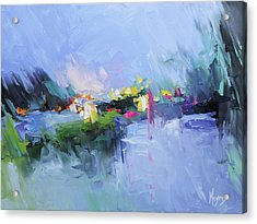 Psalm 29 God In The Storm Acrylic Print by Mike Moyers
