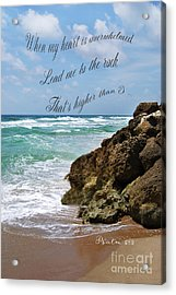 Psalm 61 Acrylic Print by Judy Hall-Folde
