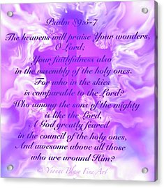 Psalm Eighty Nine Selected Verses Acrylic Print