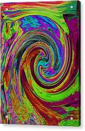 Pscholdelic Surfs Up Acrylic Print by Wayne Potrafka