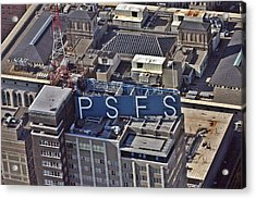 Psfs Building Acrylic Print by Duncan Pearson