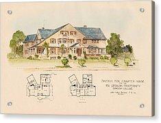 Psi Upsilon Fraternity Bowdoin College Maine  Acrylic Print by John Calvin Stevens