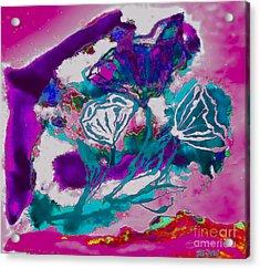 Psycadelic Flowers Acrylic Print by Marsha Heiken
