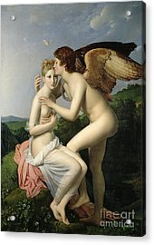 Psyche Receiving The First Kiss Of Cupid Acrylic Print by Gerard