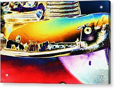 Psychedelic Chevy Bumper Acrylic Print by Richard Henne