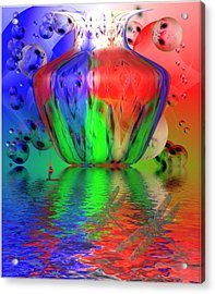 Acrylic Print featuring the photograph Psychedelic Flight by Joyce Dickens