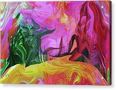 Psychedelic Fun House Acrylic Print