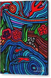 Psychedelic Garden 3 Acrylic Print
