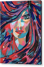 Acrylic Print featuring the painting Psychedelic Jane by Kathleen Sartoris