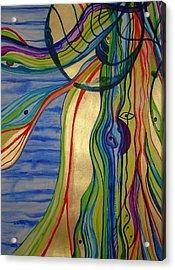 Psychedelic Jellyfish Acrylic Print