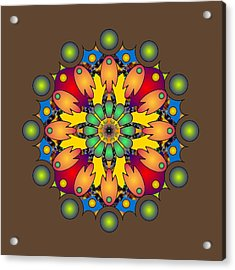 Psychedelic Mandala 009 A Acrylic Print