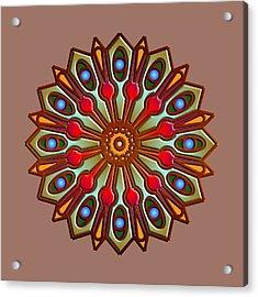 Psychedelic Mandala 012 A Acrylic Print