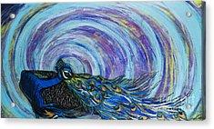Psychedelic Peacock Acrylic Print