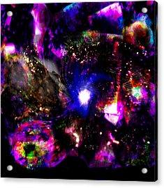 Psychedelic Rainbow Nebula Galaxy Universe Acrylic Print by Abram Lopez