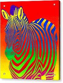 Psychedelic Rainbow Zebra Acrylic Print
