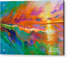 Psychedelic Sea Acrylic Print