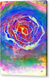 Psychedelic Series 3 Acrylic Print by Jane Biven