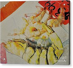 Psychedelic Shrimp Acrylic Print by Autumn Wimmer