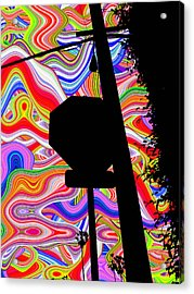 Psychedelic Sky Acrylic Print by Phill Petrovic