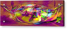 Acrylic Print featuring the digital art Psychedelic Sun by Linda Sannuti