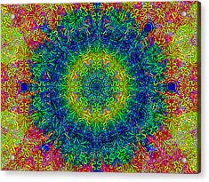 Psychedelicize Acrylic Print by Bill Cannon