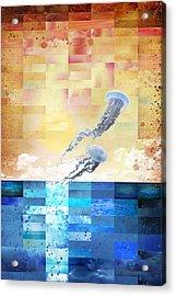 Psychotropic Rhythms Acrylic Print by Christina Lihani