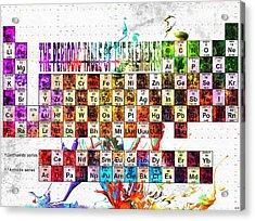 Pte Grunge Acrylic Print by Daniel Janda