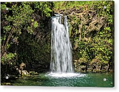 Acrylic Print featuring the photograph Pua'a Ka'a Falls by Jim Thompson