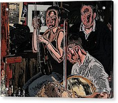 Pub Scene Three Acrylic Print by Dave Luebbert
