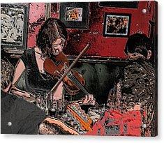 Pub Scene Two Acrylic Print by Dave Luebbert