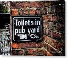 Pub Sign Acrylic Print