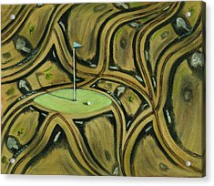 Acrylic Print featuring the painting Tax Payer Funded Golf Courses Art Print by Tommervik