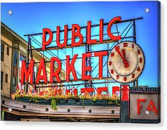 Acrylic Print featuring the photograph Public Market At Noon by Spencer McDonald