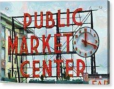 Public Market Center Acrylic Print