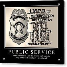 Public Service 2 Acrylic Print