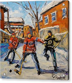 Puck Control Hockey Kids Created By Prankearts Acrylic Print