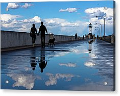 Acrylic Print featuring the photograph Puddle-licious by Mary Amerman