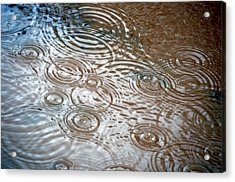 Acrylic Print featuring the photograph Puddle Patterns by Gwyn Newcombe
