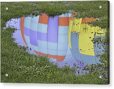 Puddle Reflections Acrylic Print by Linda Geiger