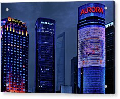 Pudong - Epitome Of Shanghai's Modernization Acrylic Print by Christine Till