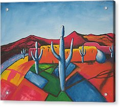 Acrylic Print featuring the painting Pueblo by Antonio Romero