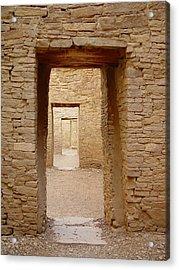 Pueblo Bonito Doors Acrylic Print by Christina Solstad