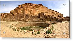 Acrylic Print featuring the photograph Pueblo Bonito Kiva Ruins by Adam Jewell