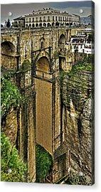 Puente Nuevo - Parador De Ronda Acrylic Print by Juergen Weiss