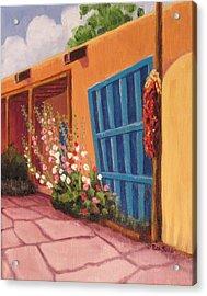 Puerta Azul En Taos Acrylic Print