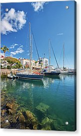 Acrylic Print featuring the photograph Puerto De Mogan by Marc Huebner