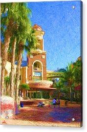 Puerto Paraiso Court Yard Acrylic Print