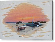 Puerto Progreso V Acrylic Print by Angel Ortiz